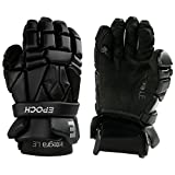 Epoch Integra LE Lacrosse Gloves with Tri-Layer Dual-Density Foam for Attack, Middie and Defensemen, Medium, Black