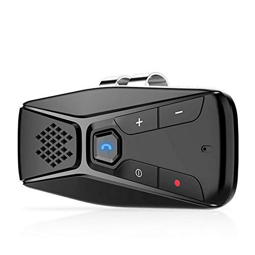 NETVIP Kfz Bluetooth Freisprecheinrichtung Auto Power On Mit Eingebautem Bewegungssensor Hände Frei Fuer 2 Telefone gleichzeitig, Unterstuetzt GPS, Musik, Handsfree Smartphone Autolautsprecher