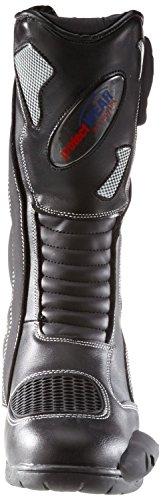 Protectwear SB-03203-43 Motorradstiefel, Allroundstiefel, Sportstiefel aus Leder, Größe 43, Schwarz - 3