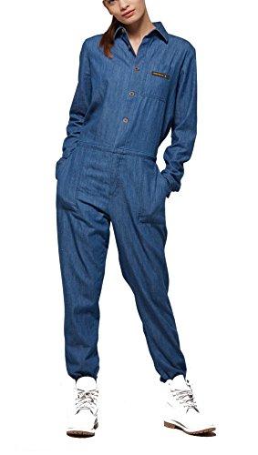 OnePiece Damen Momentum Jumpsuit, Blau (Denim Blue), 38 (Herstellergröße: M)