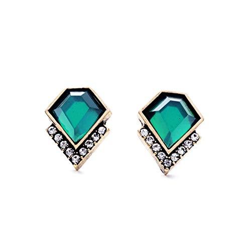 AILUOR Vintage Style Emerald Green Rhinestone Earrings, Fashion Art Deco Antique Wedding Bridal Prom Stud Earrings Hook Chandelier Dangle Earrings Jewelry for Women Girl (Green)