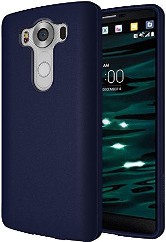 Diztronic LG V10 Case, Full Matte Slim-Fit Flexible TPU Case for LG V10 (2015) - Matte Dark Navy Blue - (V10-FM-BLUE)