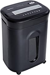"15 sheet crosscut paper/CD/credit-card shredder Shred size of 5/32"" x 1-7/32"" (4 x 31mm), security level P-4 20 minute continuous run time Protection against overheating and overloading LED indicators: Standby/Overheat/Overload/Door open/Bin full 6 g..."