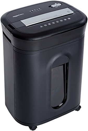 Fantastic Deal! AmazonBasics 15-Sheet Cross-Cut Paper, CD Credit Card Office Shredder