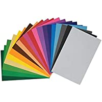 Kadusi Set 20 láminas Goma eva Adhesiva Surtido Colores de 20x30 cm Grosor de 2mm
