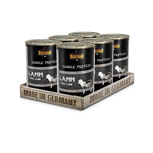 Belcando Single Protein Dose [6x400g Lamm]   Sortenreines Nassfutter für Hunde   Monoprotein Feuchtfutter