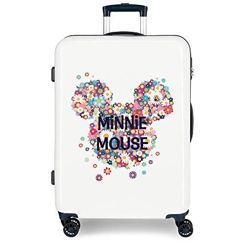 Disney Minnie Sunny Day Maleta mediana Azul 48x68x26 cms Rígida ABS Cierre combinación 70L 3,7Kgs 4 Ruedas dobles