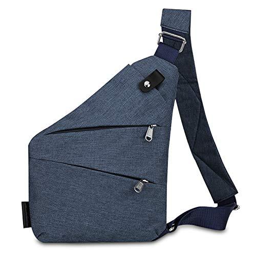 CX&LL Mochila de un solo hombro para hombre y mujer, ligera, bolsa de pecho para hombre y mujer, estilo casual, bolso de hombro, antirrobo, para trabajo, viajes, ciclismo, deporte