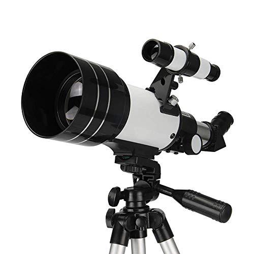 Telescopio, telescopio refractor astronómico de apertura de 70 mm con trípode ajustable y adaptador para teléfono inteligente Telescopio astronómico para niños principiantes Buen compañero para ver l