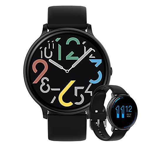 HQPCAHL Smartwatch Deportivo con Llamadas Bluetooth Reloj Inteligente Impermeable IP67 Pulsera Actividad con Monitor De Sueño Ritmo Cardíaco Notificación De Mensaje para Android E iOS,Negro
