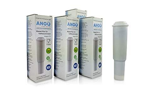 4x Wasserfilterpatronen ersetzen Jura Claris White 60209 / kompatibel mit Jura Impressa, Nespresso, Espresso, Carpresso - PureWater Ango-CF2 Kaffeevollautomat Kartusche