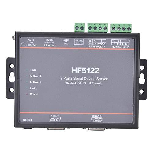 HF-5122 Dual Serial Port zu Ethernet RS232/RS485/RS422 Serial Server 5-36VDC Unterstützt 2-Wege-Ethernet-Schnittstellen