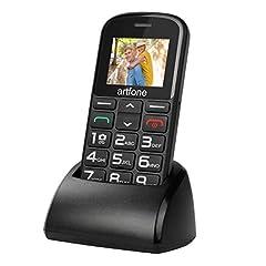 artfone senior mobiele telefoon zonder contract | Dual SIM mobiele telefoon met noodknop | Grote knoppen voor mobiele telefoon voor gepensioneerden | 2G GSM Mobiele Telefoon | Grote sleuteltelefoon met laadstation en camera|1400 mAh batterij Lange standbytijd*