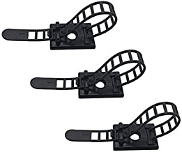 25pcs Cable Clips the Adhesive Cable Ties, Adjustable Nylon Cable Zip Ties and Adhesive Cable Clips with Optional Screw Mount for Cord Management (Black)