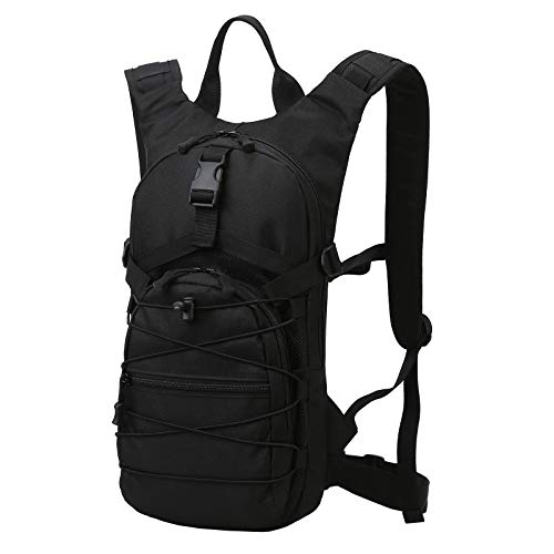 OMASKA Multifunction Light weight Tactical Hiking Backpacks Outdoor Cycling Casual Daypacks Black