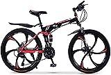 HIGHKAS Vélo de Montagne vélo Adulte Pliant 20/24/26 Pouces Double Amortisseur de Vitesse Hors Route Course Filles et garçons vélo