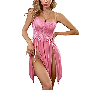 Avidlove Women Lace Lingerie Babydoll Dress Strap Chemise Sleepwear Sexy Nighty S-XXL