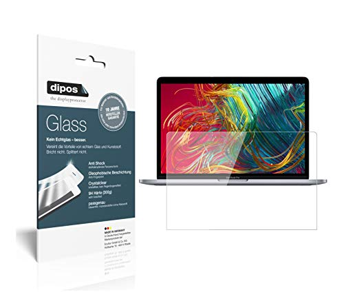 dipos I 2X Panzerfolie klar kompatibel mit Apple MacBook Pro 13 Zoll (2020) Schutzfolie 9H Displayschutz-Folie