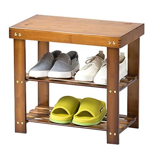 Aveo Zapatero Zapatos Minimalista Banco Zapatero Zapato de Madera nórdica Gabinete Cambio Zapatos de Almacenamiento a Largo Banco de heces Zapatos Bench Zapatera (tamaño : 50cm)