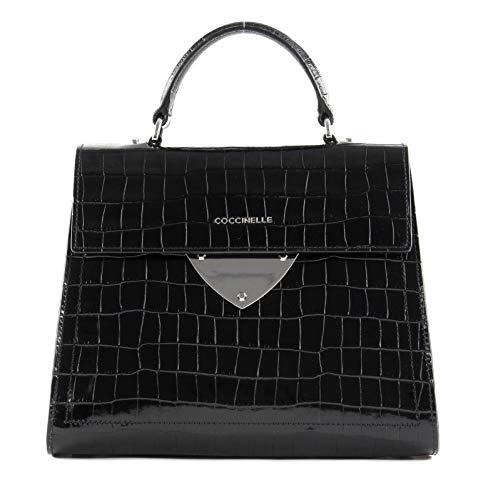 Coccinelle B14 Croco Handbag Noir