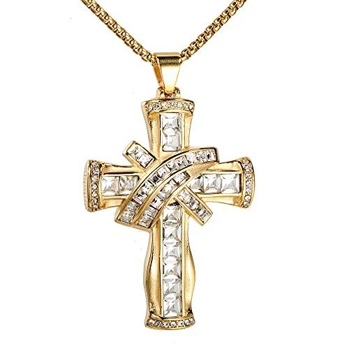 maozuzyy Collar Colgante Joyería Collar Colgante De Acero Inoxidable Dorado Colgante Clásico Simple Colgante Individual