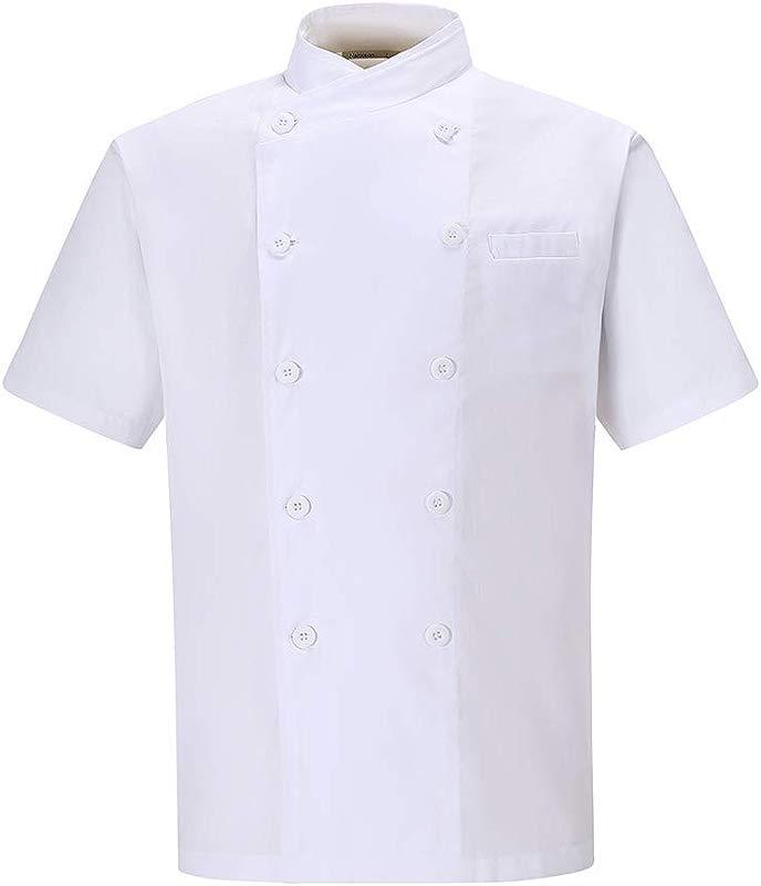 Nanxson Unisex Chef Jacket Kitchen Hotel Cotton White Uniform Chef Working Coat With Air Mesh CFM0029