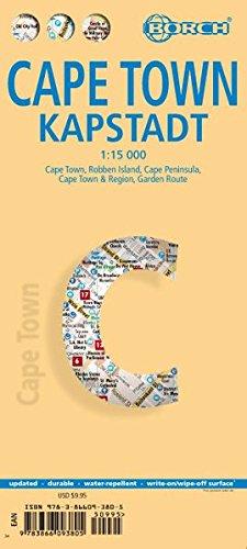 Cape Town, Kapstadt, Borch Map: Cape Town, Robben Island, Cape Peninsula, Cape Town & Region, Garden Route: BB.C468 (Borch Maps)