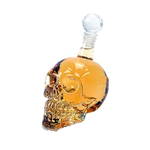 Dispensador de vidrio de vodka skull con tapón dispensador de vidrio transparente 11 onzas, 16 onzas, 33 onzas (juego de 2),2 piece set,11.8oz