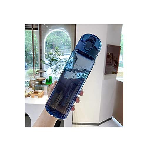 GYN Botella de Agua Deportiva 780ml Botella de Agua Portátil de Plástico para Beber Taza de Té Deporte al Aire Libre Suministros de Camping Café Herramientas de Cocina,Blue