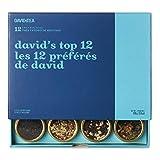 DAVIDsTEA David's Top 12 Tea Sampler, Loose Leaf Tea Gift Set, Assortment of 12 Fan Favourite Teas, 106 g / 3.8 oz