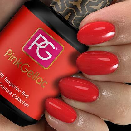 PINK Gellac color 210 Tangerine Red esmalte pintauñas gel permanente 14 días