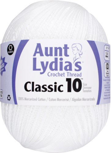 Aunt Lydia Jumbo Crochet Cotton, White