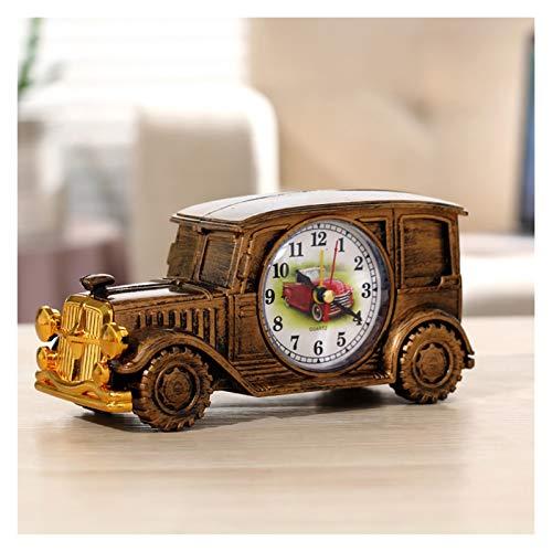 Kfdzsw Reloj despertador de motocicleta con micro interruptor, para decoración del hogar, juguetes para niños, estilo retro, plateado, dorado, estilo retro, reloj de cuarzo (color: cobre A1)