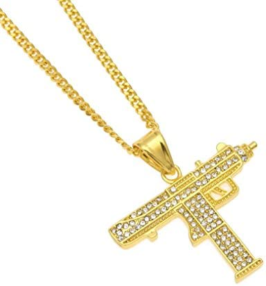1PC Men's Personality Necklace Diamond Hip Hop Style Pendant Cuban Chain Jewelry Gift