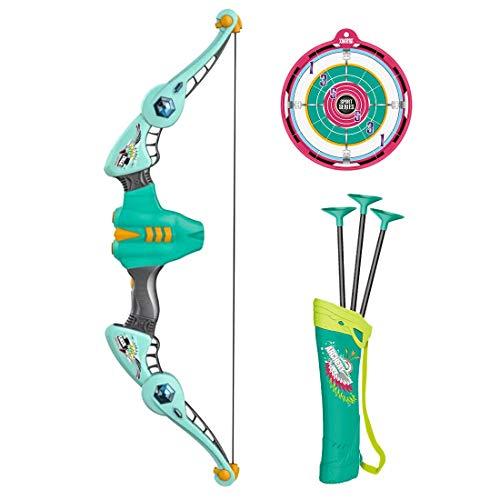 Tosbess Arco y Flechas Niños Set Arco – Diana de Tiro con Arco Equipos de Juguete para Niños Juego Regalo de Entrenamiento con Flechas y Objetivo Caras,68 x 24 x 4cm