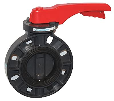 """Hayward BYCS1030E1LGA Series BYCS PVC Body & Disc EPDM Liner Lever for Butterfly Valve, 3"""" Size by Hayward Industries"""