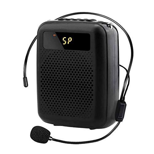 Adesign Amplificador de Voz Recargable con micrófono inalámbrico, Sistema PA portátil, Soporte U Disk/TF para guías turísticos, Maestros, Entrenadores, presentaciones, Disfraces, etc.