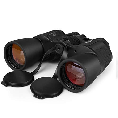 YANG Prismáticos Profesionales 10x-30X50 Binoculares compactos para Adultos Telescopio Anillo de Ajuste de paralaje del Ocular Derecho potentes y livianos para Viajes Black-10x-30x50