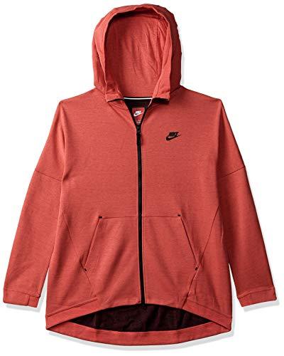 Nike Women's Sports Hoodie (811711-850_HTR/Ember Glow/Blk_L)
