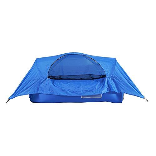 Fervortop Tumbona inflable de aire plegable con bolsa de transporte, tumbonas de aire inflables, bolsa de aire perezosa, portátil para camping, playa, parque, viajes