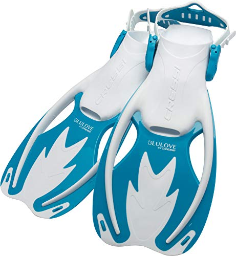 Cressi Rocks fins, White/Light Blue, S/M