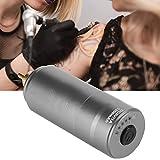 Tattoo Power Wireless Power Máquina de tatuaje Motor de potencia Pluma de tatuaje Power R Type Plug Accesorios de tatuaje con modo de seguridad Fácil de operar Voltaje ajustable (GRIS)