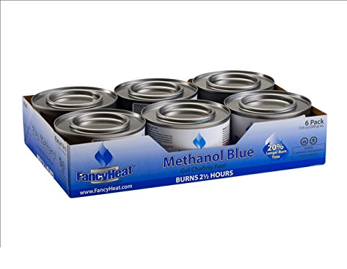 EM Products 700425567996 Fancy Heat 2.5 Hour Methanol Gel, 7.05 Ounce-Entertainment and Buffet Cooking Fuel Chafing Cans (6 Pack), Medium
