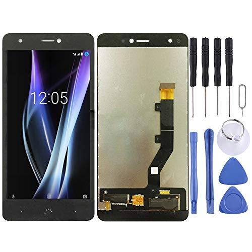 GUOHUI Piezas de Repuesto Pantalla LCD y ensamblaje Completo del digitalizador para BQ Aquaris X/X Pro (Negro) Partes de telefono (Color : Black)