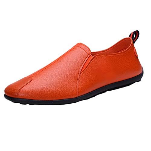 Müßiggänger für Herren/Skxinn Männer Mokkasins Bootsschuhe Slip on Casual Loafers Frühling und Herbst Men Schuhe Kunstleder Flach Party Schuhe Abendschuhe 39-44 EU Reduziert(Braun,42 EU)