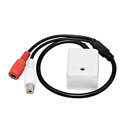 CERRXIAN Dispositivo de recogida de audio de micrófono para cámara de seguridad, dentro de 100 metros cuadrados, amplio alcance para cámaras de seguridad CCTV DVR sistema de vigilancia, etc.