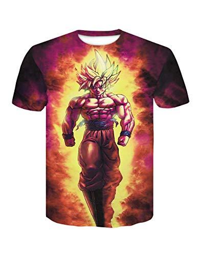 Camiseta Dragon Ball Niño Unisex Hombres Mujer 3D Impresión Camisetas y Camisas Deportivas Camisetas de Manga Corta T Shirt Fresco Dibujos Animados de Fans Streetwear Camisetas de Verano
