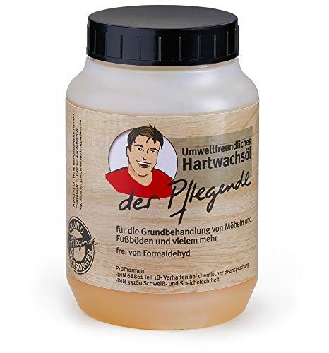 Der Pflegende Premium Hartwachsöl farblos 0,75 Liter | Formaldehyd-Frei Möbelwachs farblos innen | für Möbel, Türen, Treppen, Parkett Fußböden usw