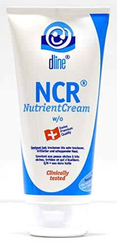 dline NCR-NutrientCream 200ml, hochwertige Feuchtigkeitscreme für trockene bis sehr trockene sensible irritierte schuppende Haut am gesamten Körper, w/o, Lipide 40%, Tube (1 x 200 ml)