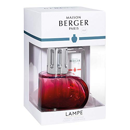 MAISON BERGER - Lampe Berger Gift Set Alliance - Red - Home Fragrance Diffuser - Perfuming - 5x8x5.5 inches - Made in France - Includes Fragrance Orange Cinnamon 250 milliliters - 8.45 Fl.oz